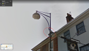 Flood light attached to street lamp not working