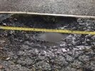 Pavement pothole collapse