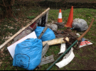 End result of a litterpick of flytipping / discarded waste from the verges